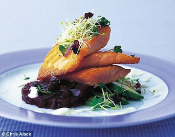 Annie Bell's Salmon Salad with Jellied Beetroot