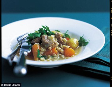 Annie Bell's Lamb, Barley and Rosemary Hotpot