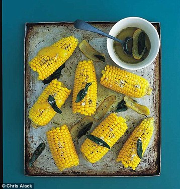Annie Bell's Sweetcorn Cobs with Sage and Lemon