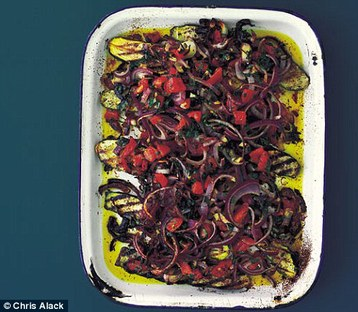 Annie Bell's Roast Courgettes with Tomatoes and Red Onions