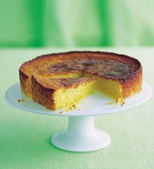 Annie Bell's Lime Syrup Polenta Cake