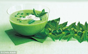 Chloe Baker's Pea, Mint and Courgette Soup