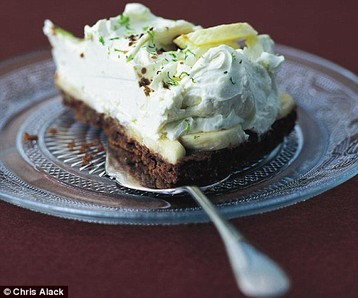 Amber Black's Choc Banana Lime Cheesecake