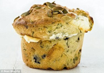 Recipe Marcus Wareing's Olive, Feta and Herb Muffins - mydish