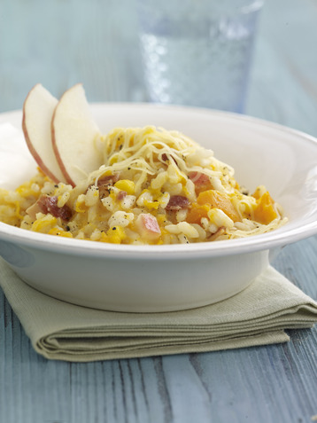 Leerdammer, Vegetable and Bacon Risotto