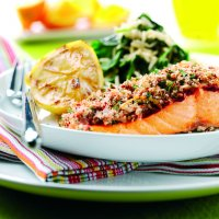 Zesty Salmon Fillets with A Tandoori Crust