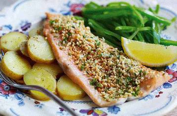 Trout Fillets with A Hazelnut Crust