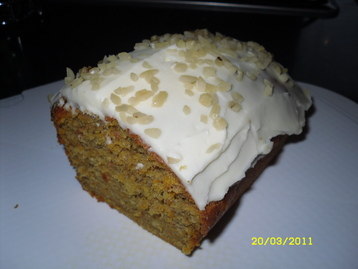 Well Spiced Carrot Cake with Mascarpone Lemon Cream Topping