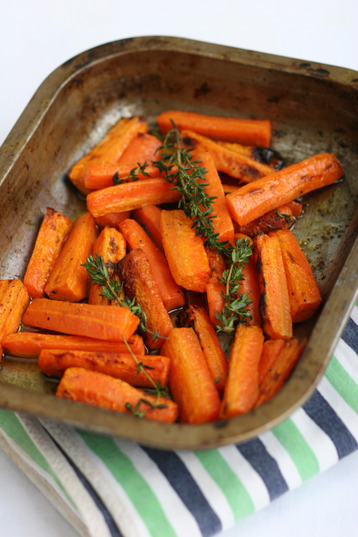 Recipe Honey and Thyme Roasted Carrots - mydish