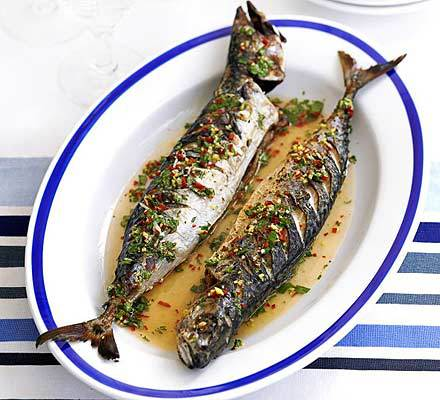 Barbecued Mackerel With Ginger Chilli Amp Lime Drizzle Recipe Mydish