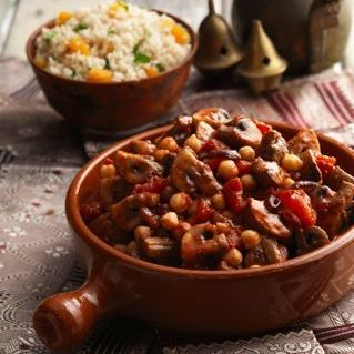 Recipe Autumn Moroccan Mushrooms with Couscous - mydish