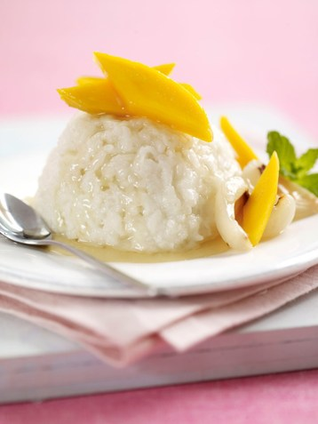 Recipe Sticky Rice, Mango and Palm Syrup - mydish