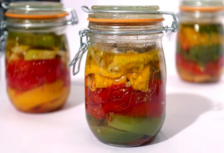 Recipe French Rainbow Ratatouille in A Le Parfait Jar - mydish